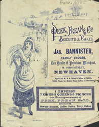 Advert for Peek, Frean & Co's biscuits & cakes 6785